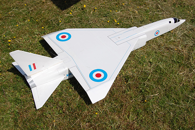 The TSR2 flew very well from a catapult launch. (HDMAC Middle Wallop Fly-In)