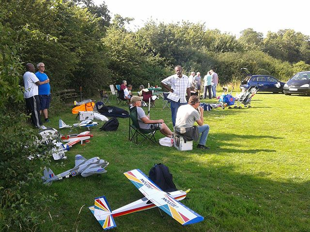 After  		an afternoon of flying what better than the club BBQ